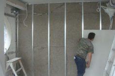 Τοίχος με γυψοσανίδα - γυψοσανίδα με μόνωση